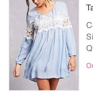 Forever 21⭐️ Small: Tassels N Lace Crochet Dress
